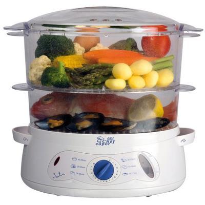 La cocina al vapor CV472 de JATA ideal para familias ya que tiene una capacidad total de 7,5l.